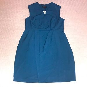 Banana Republic teal sleeveless dress, 10 petite